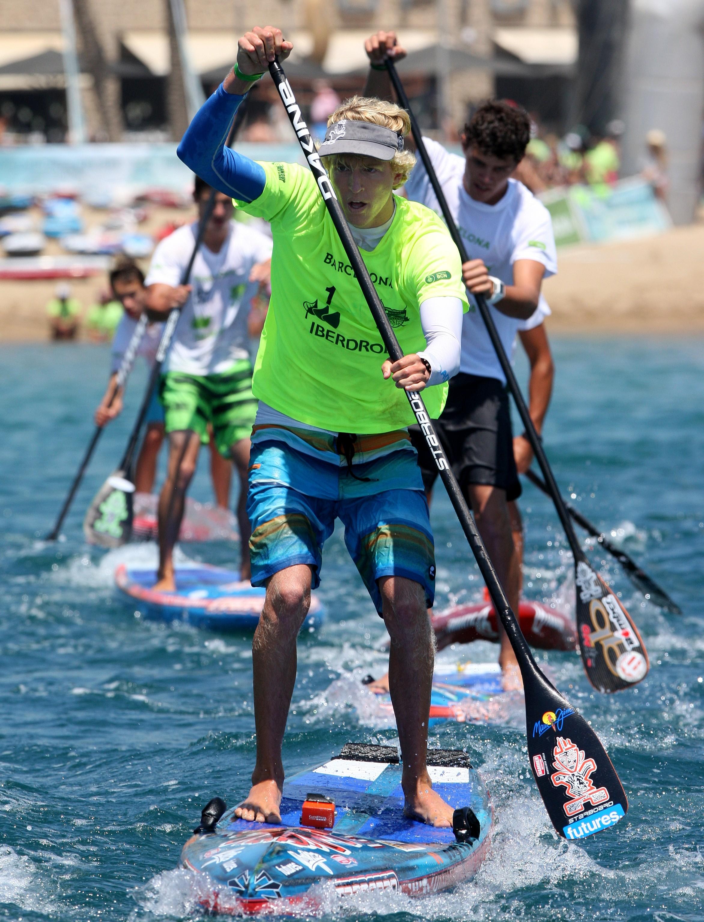 Connor-paddling Barcelona