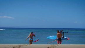 Couple Foil Hawaii SUP World
