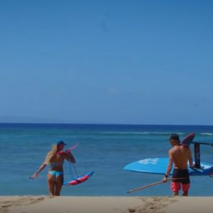 Couple Foil Hawaii SUP World