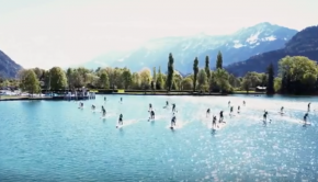Switzerland - The epic 18k Stand up Paddle ICE Race from Interlaken to Thun!