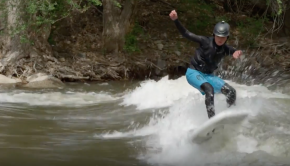 Inflatable SK8 River Surfing Board from Badfish