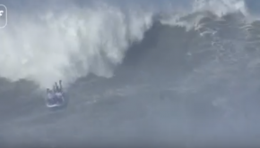 Surfing Nazaré on a Big SUP!!!