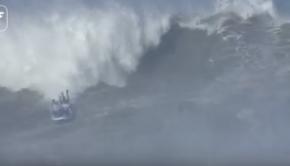 Surfing Nazaré on a Big SUP!!!