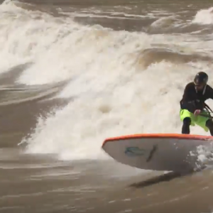 Colorado River Surfing With Badfish SUP
