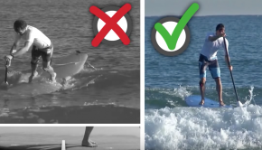 How to catch your first backside wave in stand up paddle