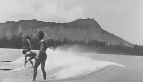 """Surfing at Waikiki Beach Hawaii: """"Sons of the Surf"""" ~ 1920 Educational Film Exchanges"""