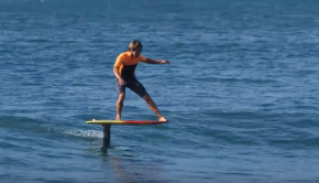 11 waves in a row flying on a HYDROFOIL for 6 minutes!