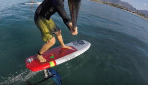 Ke Nalu Hydrofoil- first SUP foil ride report