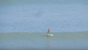 Laird Hamilton Foil SUPing for over 2:30 minutes in Peru!