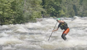 Whitewater SUP on Maine's Kennebec River