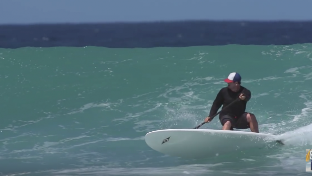 SUP Surf Instruction - How to Bottom Turn a Paddleboard
