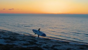 Sunrise SUP surfing - NKD Champion 10'6