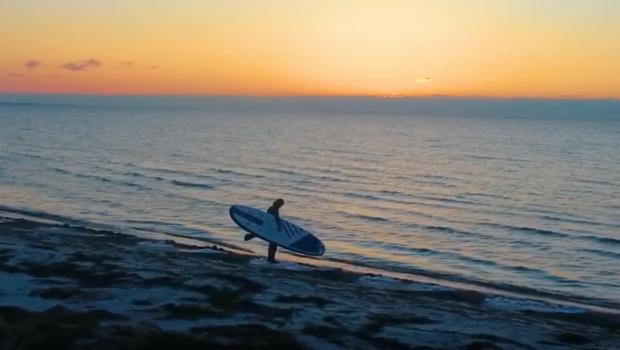 Sunrise SUP surfing - NKD Champion 10'6