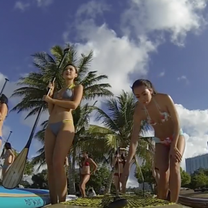 SUP with the Miss Hawaii contestants