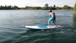 One of the more advanced stand up paddle board techniques, the step back turn is a great way of turning around quickly. In this video, Sam Ross demonstrates the key elements of this manoeuvre and gives you plenty of tips to help you master it. Before you initiate the step back turn, ensure that the paddle is on your leash side. Your non-leash foot moves into the middle of the board and you step back with your leash foot. To make the board turn, take wide strokes on the leash side, the more you weight the back foot the sharper the turn. Also known as a pivot turn or buoy turn, the step back turn is a sharp way of turning round and is great in every water environment. Spin the board on the spot with style.