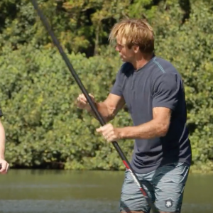 Paddling and surfing with Laird Hamilton