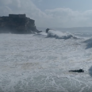 Double Trouble - Big Wave & Dramatic Aftermath Sequence #Drone - Nazaré, Portugal