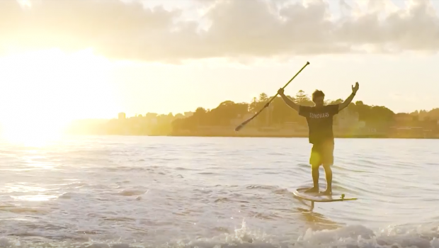 Sydney Harbour Bridge Surfing - SUP Foil Boarding with James Casey, Sunova and GoFoil