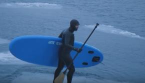Winter SUP surfing - NKD Instinct 10'0
