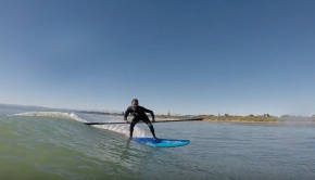 The FY KAHA carbon pro double-bladed SUP surf paddle