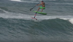 Hydrofoil Surfing - Austin Kalama at Paia Bay