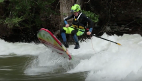 River Surfing Trick with Badfish SUP Team Rider Miles
