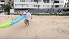 Doing proper beach starts in SUP racing
