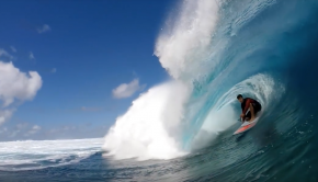 SUP Surfing Keahi de Aboitiz Reef & Beach