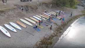 Panajachel Pana Surf SUP Stand Up Paddle Board Yoga Drone Lake Atitlan
