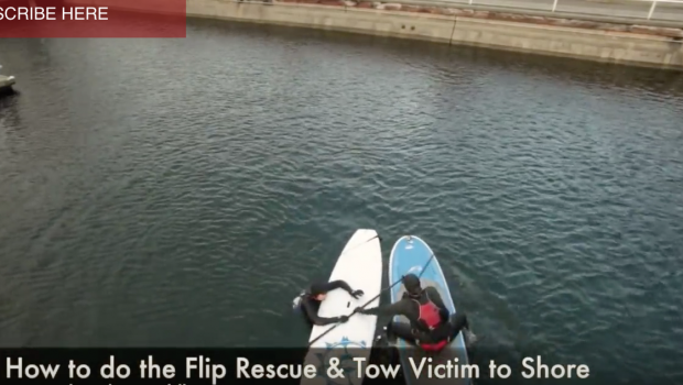 SUP Rescues - How to do the Flip Rescue and Towing - Stand Up Paddling