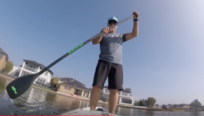 SUP training on my ONE Storm and some paddle technique