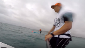 SUP downwind (20 knots)- The SIC SOUL ARCH!
