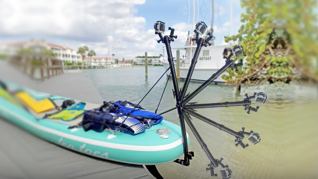 Pivoting Underwater Camera Arm for Stand Up Paddle Boards (SUP)