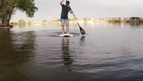 (RIVER SURFING) Getting use to a low volume SUP