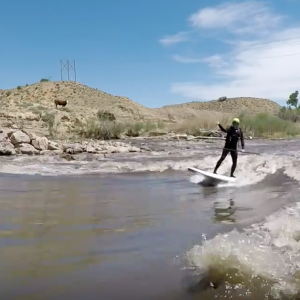 River Surfing Florence Colorado pt 2 SUP