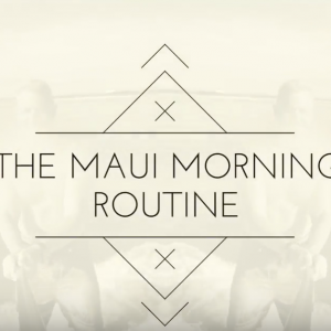 Maui STAND UP Paddle Board SUP Morning Work Out