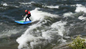 Rodeo Wave SUP Surfing on the Wenatchee River
