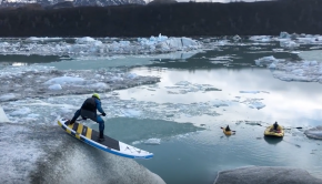 Spencer Lacy's Glacier SUP Toboggan Ride in Alaska