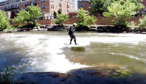 Stand Up Paddle RIVER SURFING