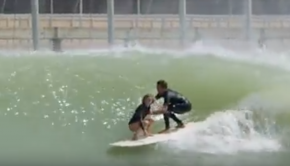 Tandem Surfing at the Kelly Slater Surf Ranch - KAI LENNY