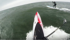 SUP Downwinding - Lamma Power Station Run - Jan 2018