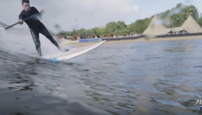 Paddling Wales | SUP Surfing at Surf Snowdonia