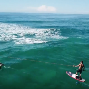 eFoil and SUP Foil tow surf session