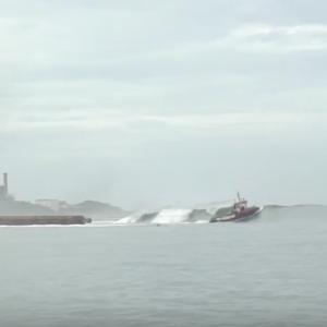 Barge Almost Takes Out Entire Lineup of Surfers