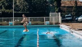 Foil pumping in an olympic pool | Hydrofoil Surfing - Horue Movie