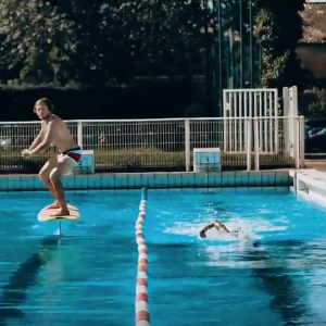 Foil pumping in an olympic pool   Hydrofoil Surfing - Horue Movie