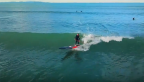 SUP 14' Surfing at Orewa by Air - DJI Mavic / New Zealand | Sam Thom NZ @samthomnz