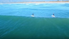 SUP foiling in Westport, New Zealand