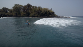 Surfer girl foiling smooth!