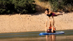 Open-Water Acroyoga on a Paddleboard